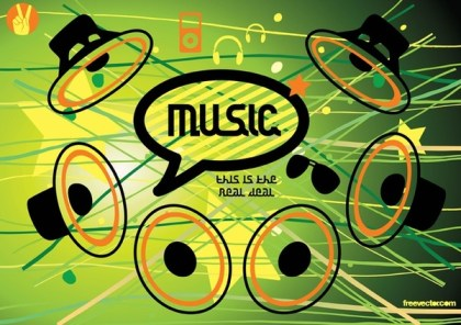 Music Speaker Icons Free Vector