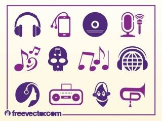 Musical Icons Free Vector