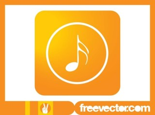 Musical Note Icon Free Vector