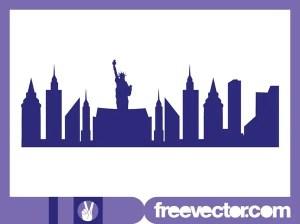 New York Skyline Free Vector