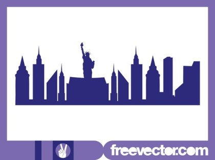 New York Skyline Free Vector