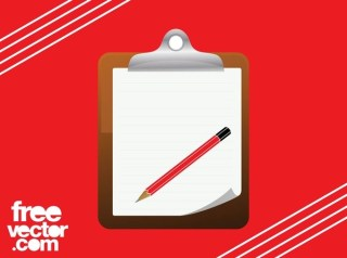 Notepad and Pencil Free Vector