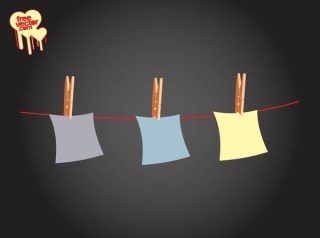 Notes On Clothes Line Free Vector