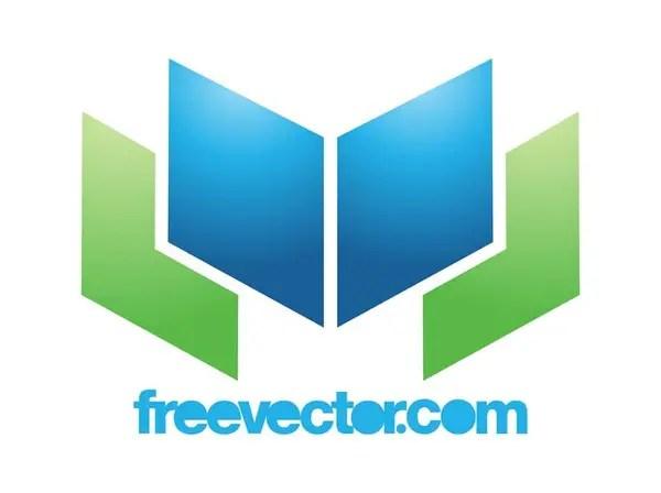 Open Book Logo Free Vector