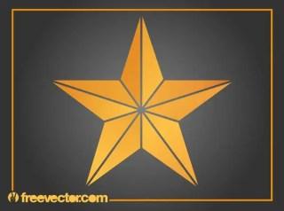 Orange Star Free Vector
