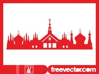 Orthodox Church Silhouette Free Vector