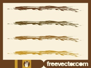 Paint Strokes s Free Vector