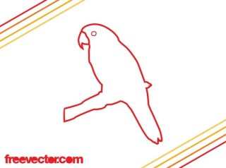 Parrot Outlines Free Vector