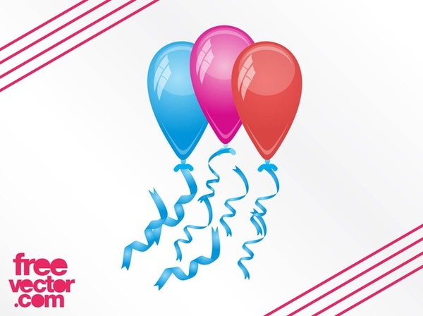 Party Balloons Free Vector