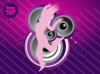 Party Girl Free Vector