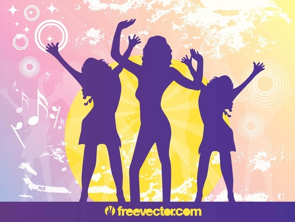 Party Silhouettes Free Vector