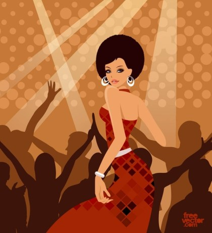 Party Woman Free Vector