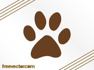 Paw Print Icon Free Vector
