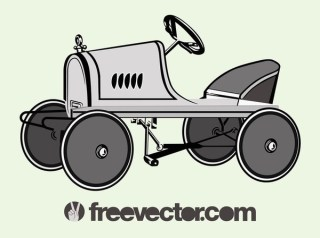 Pedal Car Free Vector
