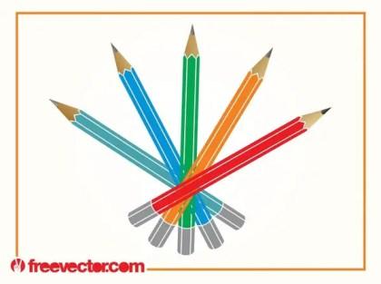Pencils Free Vector
