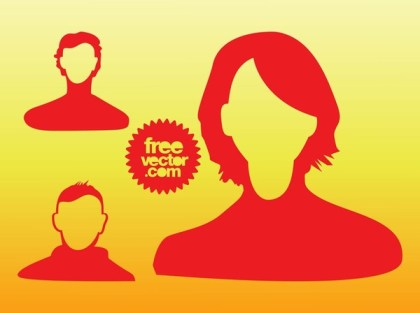 People Heads Free Vector