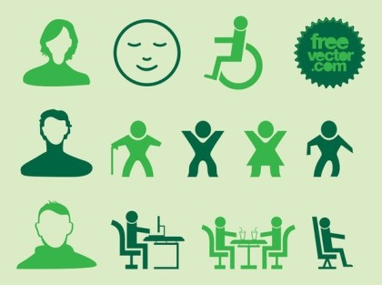 People Silhouette Icons Free Vector