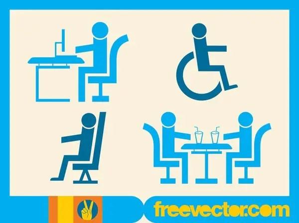 People Symbols Free Vector