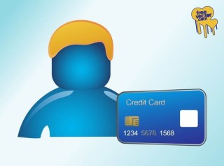 Person With Credit Card Free Vector