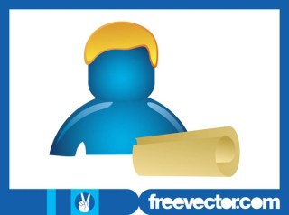 Person With Paper Scroll Free Vector