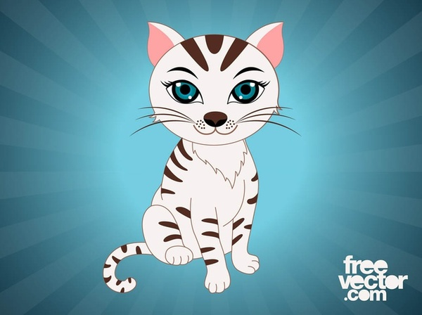 Pet Cat Cartoon Free Vector