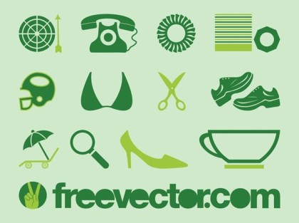 Pictograms Free Vector