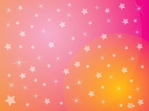 Pink Stars Background Free Vector