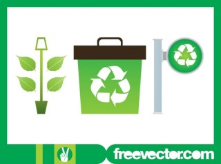 Plant and Recycling Free Vector