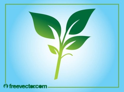 Plant Silhouette Free Vector