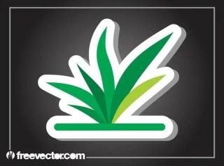 Plant Sticker Free Vector