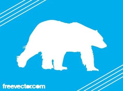 Polar Bear Silhouette Free Vector