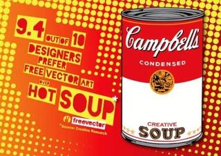 Pop Art Soup Free Vector