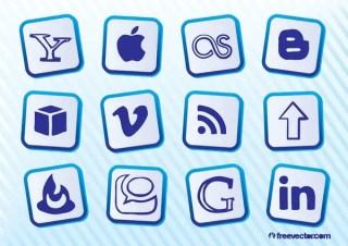 Popular Social Media Icons Free Vector