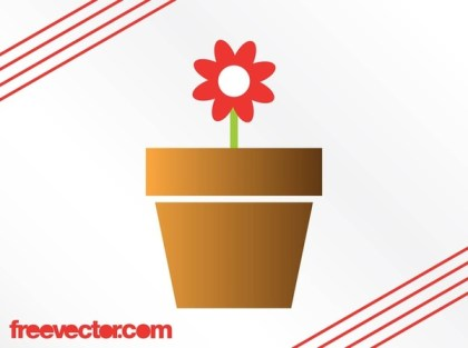 Potted Flower Free Vector