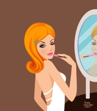 Pretty Girl With Lipstick Free Vector