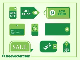 Price Tags s Free Vector