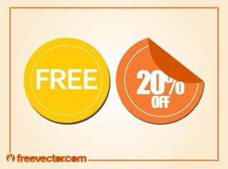 Promotion Labels Free Vector