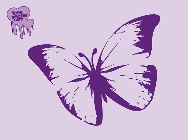 Purple Butterfly Free Vector