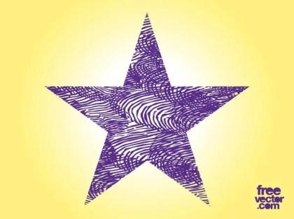 Purple Grunge Star Free Vector