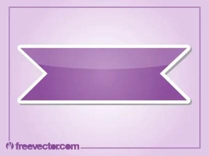 Purple Sticker Free Vector