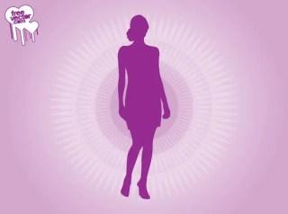 Purple Woman Silhouette Free Vector