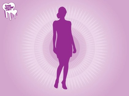 Purple Woman Silhouette Free Vector