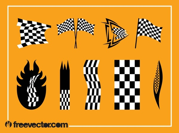 Racing Flags Free Vector