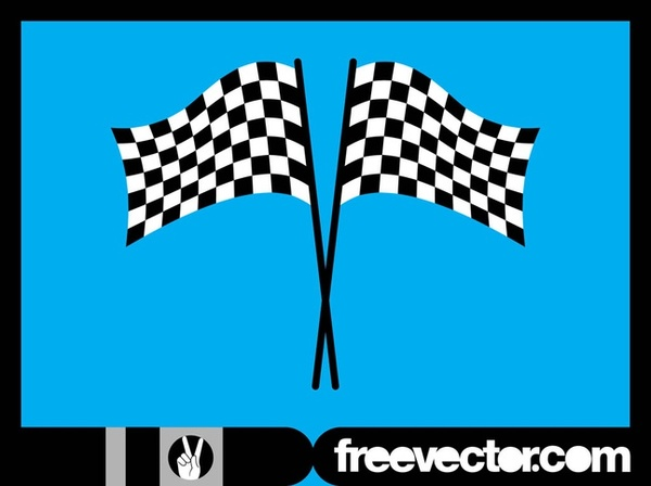 Racing Flags Layout Free Vector
