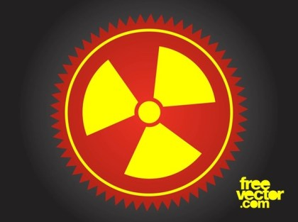 Radioactive Button Free Vector