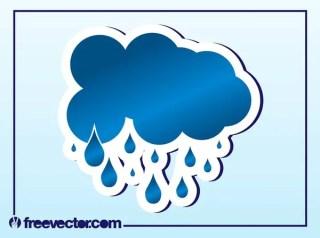 Rain Cloud Free Vector