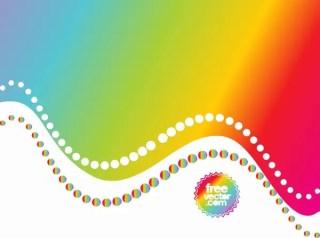 Rainbow Background Free Vector