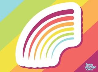 Rainbow Badge Free Vector