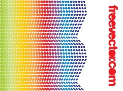 Rainbow Halftone Design Free Vector