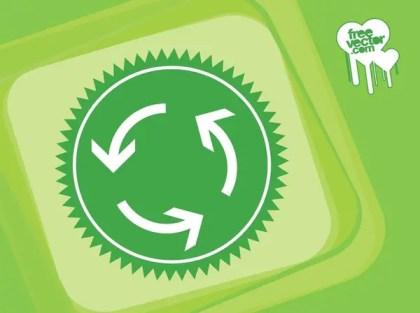 Recycle Arrows Design Free Vector